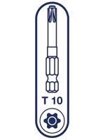 T-10 Spax T-Star Plus Drive bit. 50mm. Pack of 5.
