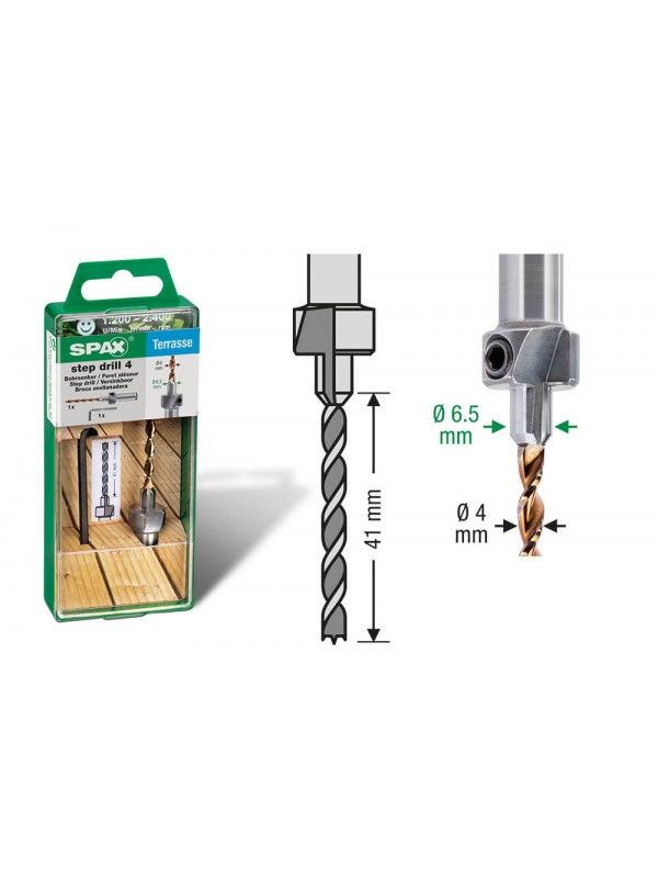 Spax-D Hardwood Step drill for decking screws