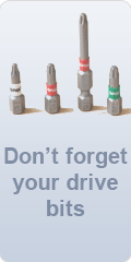 Don't forget drive bits vertical